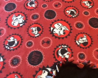 101 Dalmatians fleece tie blanket