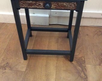OCCASIONAL TABLE -single drawer  - upcycled