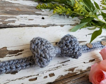 Gray Boys Bow Tie / Boys Bow Tie / Newborn Boy Bow Ties / Boy Bow Ties / Newborn Boys Bow Tie / Gray Bow Tie