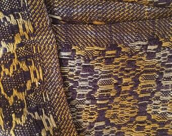 Silk hand-woven scarf