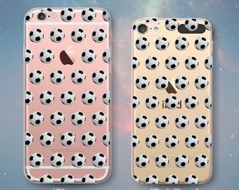 Soccer Balls Pattern Football Clear Rubber Case for iPhone 7 Plus iPhone 7 iPhone 6s 6 Plus iPhone 6s 6 iPhone 5s 5 5c iPhone SE iPod Touch