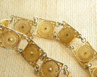 "Filigree bracelet SILVER 800 stamped 6.5"" = 17cm long ~  beautiful Italian~ inA2242"