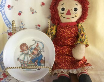 "1960's RAGGEDY ANN Doll-15"" And FREE Bowl!"