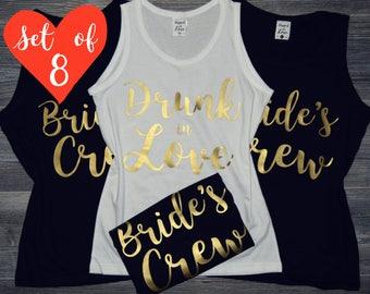 Bridesmaid Shirts (8) | 8 Bridesmaid Tank Tops | Bridesmaid Shirts Set of 8 | Bachelorette Party Tank Tops | Bridal Party Tank Tops Custom