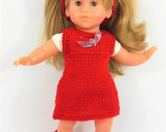 Dress, headband and Red doll shoes