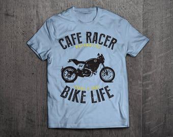Cafe Racer motorcycle t shirts, rider shirts, bike life t shirts, cafe racer shirts, motorcycle shirts cafe shirts fun tshirts by Motomotive