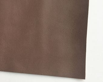Deep Taupe Smooth Vegan Faux Leather