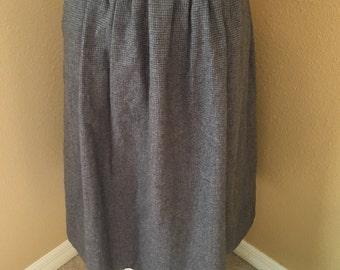 Vintage Tweed Houndstooth Skirt with POCKETS!