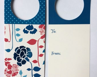 Modern floral  foil set of eight bottle tags