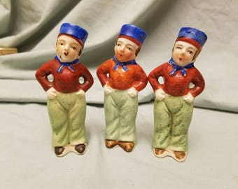 Lot of 3 Dutch boys Salt and pepper shakers