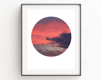 Cloud Photography, Cloud Print, Nature Photography, Circle Art, Circle Print, Cloud Art, Modern Prints, Geometric Art, Sky Print
