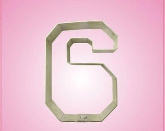 Varsity Number 6 Cookie Cutter
