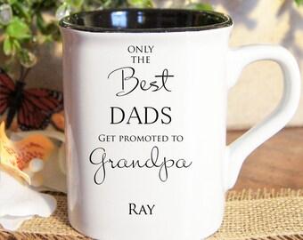 Personalized coffee mugs, Custom coffee mugs, Engraved coffee mugs, only the best dads mug
