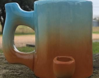 Wake N Bake Smoking Pipe Coffee Mug Blue Haze Imperfect