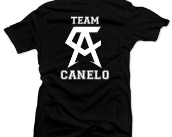 Saul el Canelo  Team Canelo Mens shirt  Boxing Tee Black
