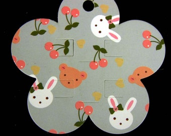 50 Bunnies  HairClips cards, Jewellery cards, Jewellery display cards, Jewelry tag, Flower display card