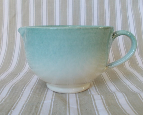 Gorgeous Ombre Effect Milk Sauce Jug Turquoise Blue Green