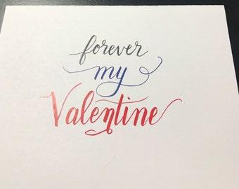 Forever my valentine handmade card