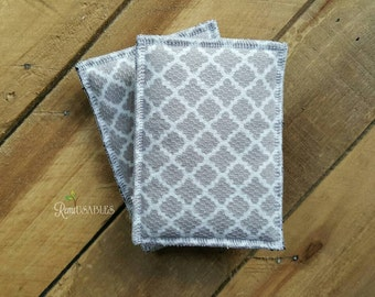 Un-sponge, reusable sponge, eco friendly, dish scrubbie, reusable kitchen product, gray sponge, cloth sponge, gray kitchen