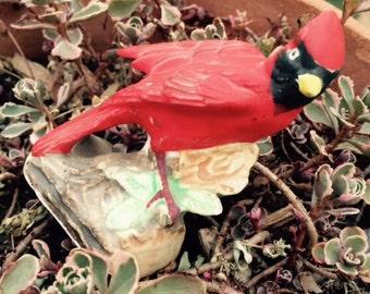 Vintage Enesco Red Cardinal, Bird Figurine, Japan