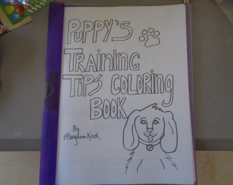 "coloring book/kids/""Puppy's training tips coloring book"""