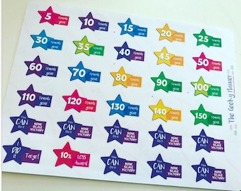 Weight loss award planner stickers POUNDS  for slimmingworld weightwatchers slimming
