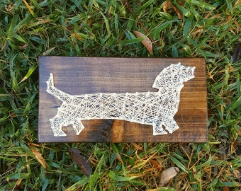 Dachshund String Art Wiener Dog Gifts Home Decor Wall Art - The Perfect Dog Lover Gift