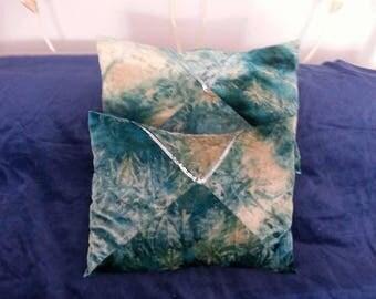 Teal Velour Sequin Cushions