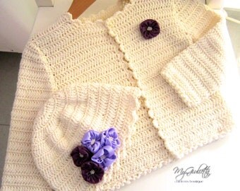 Bolero, Crochet Baby Bolero, Robe Ceremonie Bebe Fille, Crochet Bolero, Baby Baptism Gift, Baby Girl Clothes, Crochet, Toddler Bolero Hat