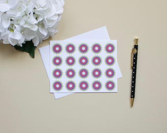 Multi-colored Starburst Notecards-Set of 10