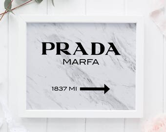 Prada Sign with Marble, Prada Marfa Marble, Prada Marfa Printable, Prada Marfa Poster, Prada Marfa Gossip Girl, Prada Wall Art, Tumblr Decor