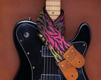 Tiger Rainbow Guitar Strap