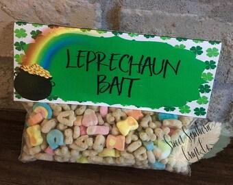 INSTANT DOWNLOAD,Leprechaun Bait,St. Patricks Day,Treat Bag,St. Patty Day,Class Treat,Leprechaun, Pot of Gold,Digital,FilePrintable