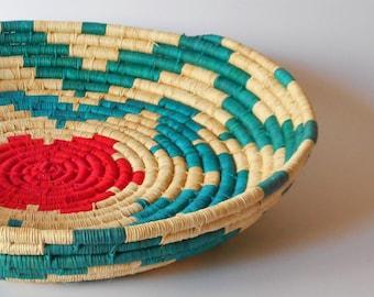 Woven Basket , Boho Basket, Home Decor, Home Art, Straw Bowl, Bowl, Straw Basket, Panier, Canasta, Cestas