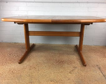 Danish Teak Dining Table by Dyrlund