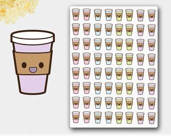 Kawaii Coffee Sticker in Pastel