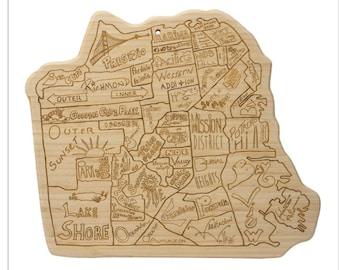 San Francisco Engraved Cutting Board