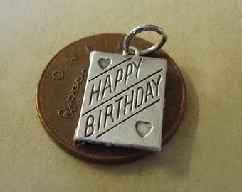 Birthday Card Charm Charms Sterling silver