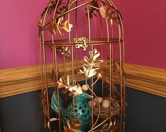 Large copper color  Birdcage, Birdcage Card Holder, Wedding Card Box, Bird cage Wedding Card Holder.
