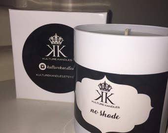 Designer Scented Soy Candles featuring Custom Labels