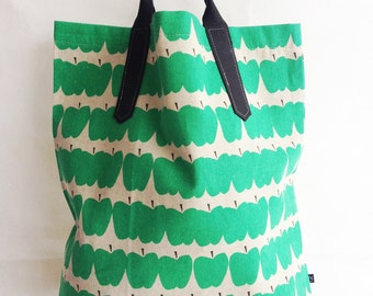 Canvas Apple Tote Bag