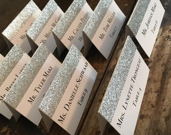 Table Cards - Glitter Names