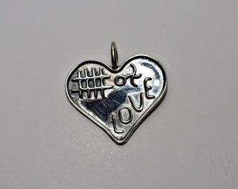 Prisoner of Love, Valentine's day, Heart, Love, Sterling Silver Pendant, Silver Jewelry, Silver Pendant, Pendant