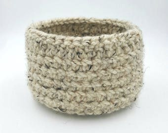 Crocheted Basket, Chunky Crocheted Basket, Storage Basket, Decorative Basket, Organizer Basket, Gift Basket, Crocheted Bowl, Crocheted Bin