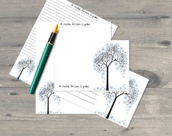 Winter tree letter writing set, letter writing paper set, letter writing stationary, letter writing paper, correspondence cards
