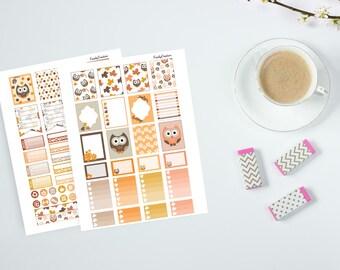 Functional OWL Printable Planner Stickers, Owl Printable Stickers for Erin Condren,Kikki K,Filofax, Plum Paper, Inkwell - FS053
