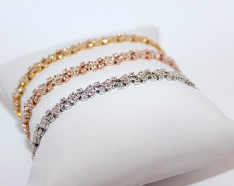 Dainty Bracelet- Silver, Rose Gold, Gold, Bridal, Special Occasion
