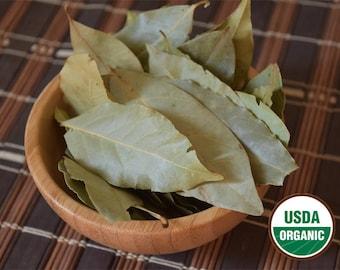 Organic Whole Bay Leaf (Laurus nobilis) 1 oz