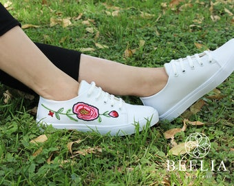 Embroidery Sneackers - Shoes - floral