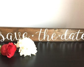 Save the Date Rustic Wood Sign
